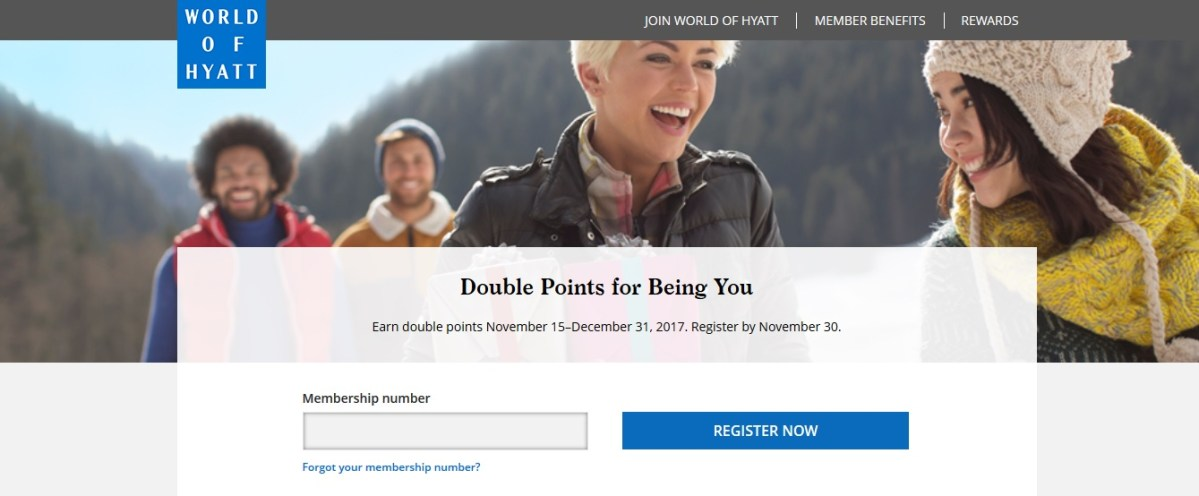 World of Hyatt Promo: Double Points for Being You