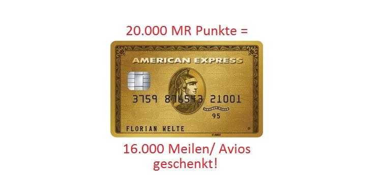 American Express Gold Kreditkarte + 16.000 Meilen – kostenfrei