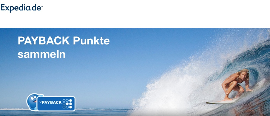 Expedia Sale + Doppelte Payback-Punkte