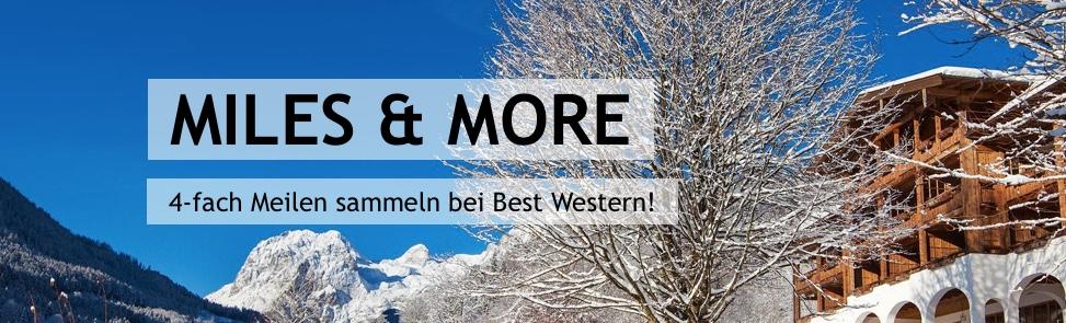 Best Western: 2000 Miles and More Meilen je Aufenthalt
