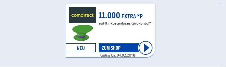 comdirect Girokonto: 11.000 Payback Punkte oder 100 Euro – kostenfrei