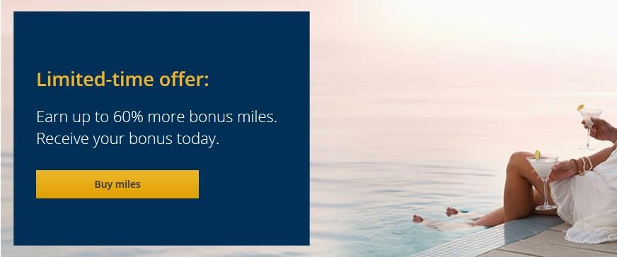 United Airlines MileagePlus Meilen kaufen: Bis zu 60 % Bonus