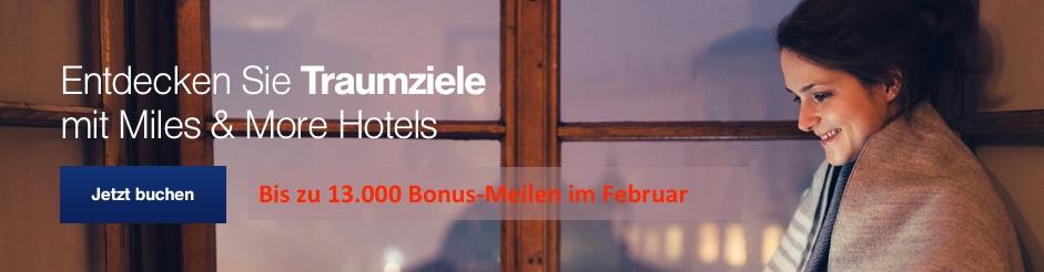 hotels & cars by points Miles & More Hotels: Bis zu 13000 Bonus-Meilen für eine Buchung lufthansa september 2018