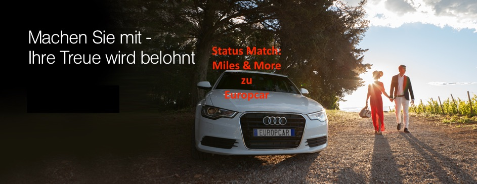 Status Match von Miles & More zu Europcar Privilege