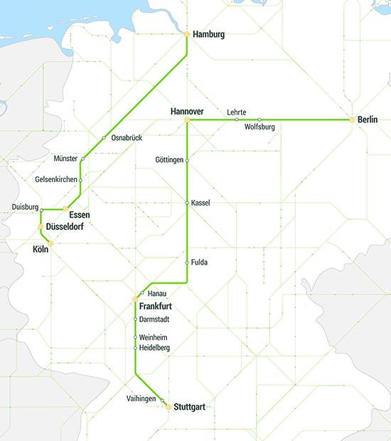 FlixBus goes FlixTrain streckennetz netz liniennetz strecke linien hkx locomore