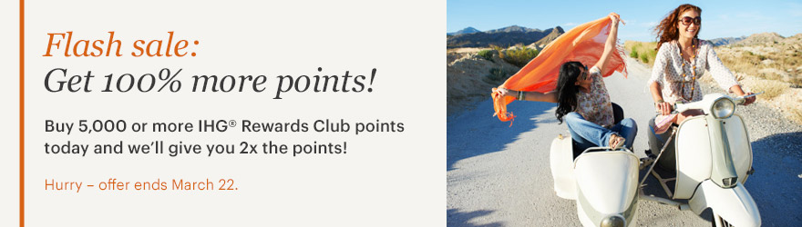 IHG Rewards Club Flash Sale: Punkte mit 100 % Bonus kaufen