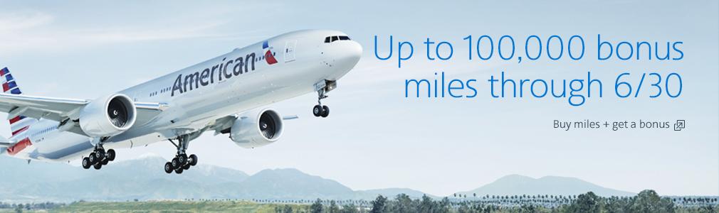 American Airlines AAdvantage Meilen mit 100.000 Bonusmeilen kaufen!
