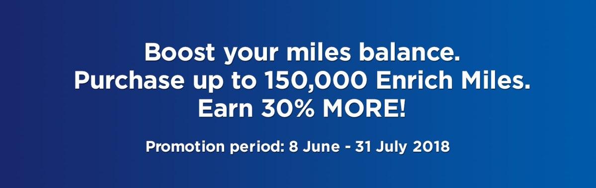 Malaysia Airlines Enrich Meilen mit 30 % Bonus kaufen oneworld british airways executive club miles promotion
