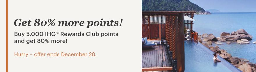 IHG Rewards Club Punkte mit 80 % Bonus kaufen