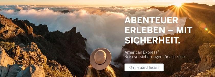 AmEx Reiseversicherung american express reisekomplettschutz gepäckversicherung gepäckschutz