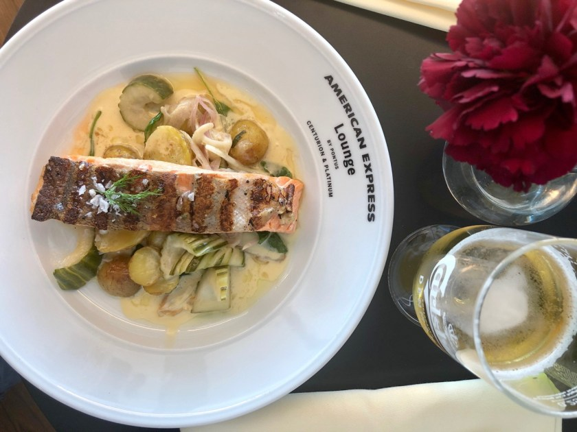 Review American Express Centurion Lounge by Pontus Stockholm Arlanda ARN amex lounge platinum erfahrung rainbow trout regenbogenforelle
