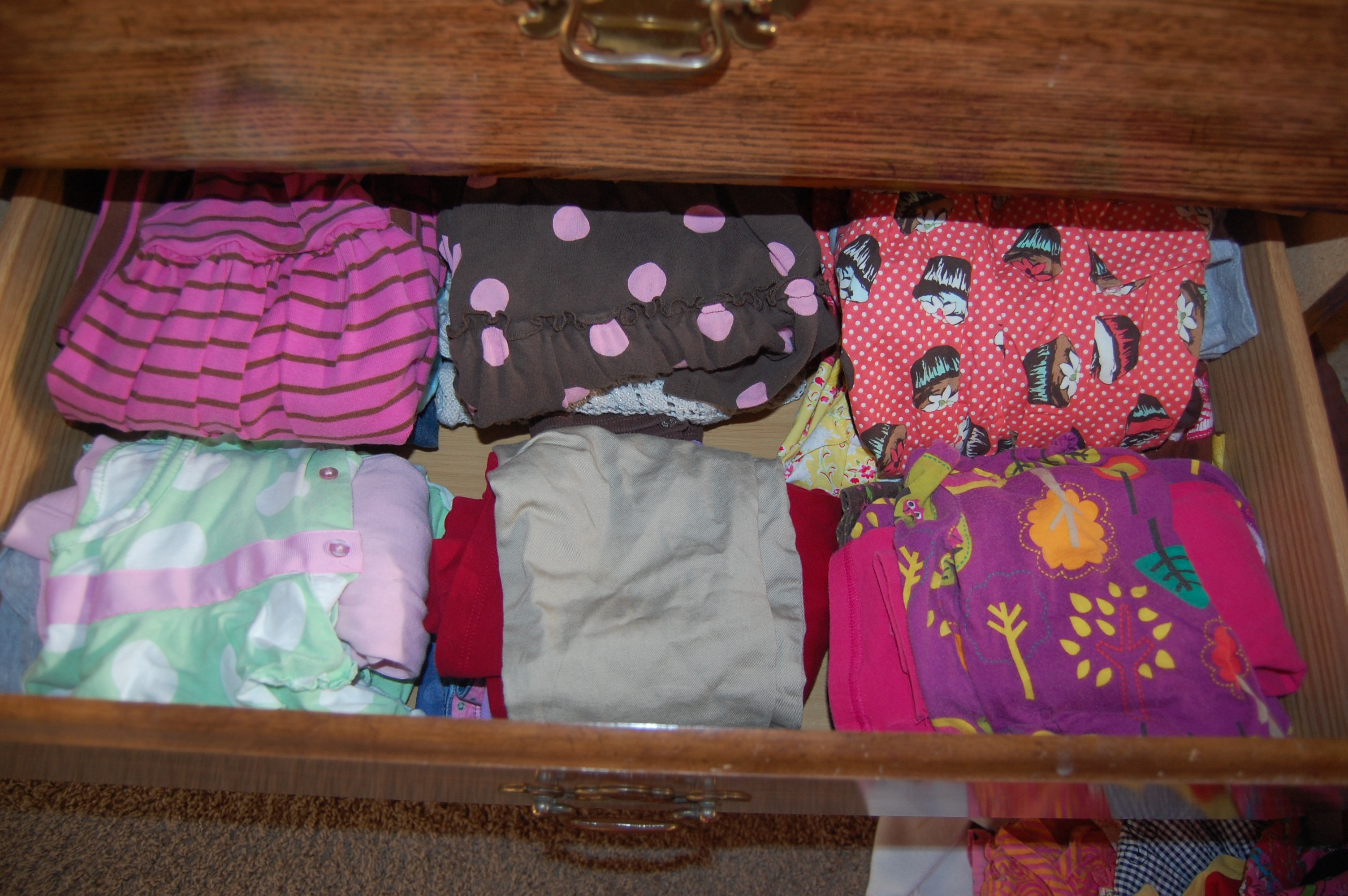 after organizing kids clothes