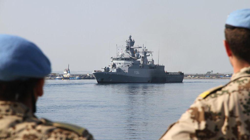 Schiff der Bundesmarine im Mittelmeer