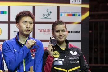 Liebherr Tischtennis WM 2017 – Petrissa Solja freut sich über Bronze