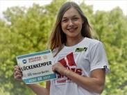 London-WM-Topsprinterin Gina Lückenkämper (PB: 10:95 sek) im Team uneinholbar, die 4 x 100 m Staffel des Deutschen Leichtathletik-Verbands beim ISTAF-Sieg in 42.17 sek.