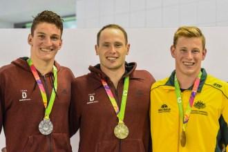 Siegerehrung: Gold und Silber für Joshua Perling (links) und Danny Wieck (Mitte).