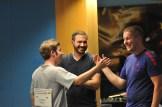 Glückliches Siegertrio (v.li.): Michael Schwald, Feldwebel Michael Heise und Sieger Christian Reitz.