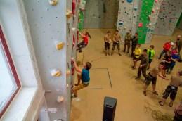 Die Schüler zeigten beim Speed-Klettern großes Engagement.