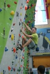 Mit einer Route der Schwierigkeit 8+ qualifizierte sich Oberleutnant Matthias Hahn für das Halbfinale.