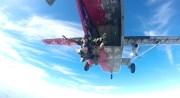 Sprung im Tandemverfahren aus 4000 Metern.