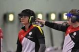 Boten vor allem in der letzten Serie sehr guten Sport im Mixed: Sandra Reitz und Michael Schwald.