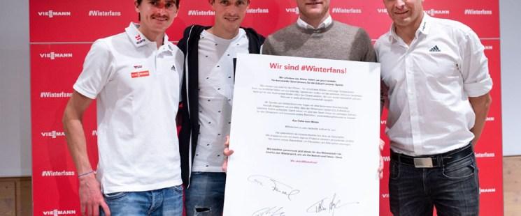 #Winterfans werden – Viessmann und Profisportler verbessern gemeinsam den ökologischen Fußabdruck des Wintersports