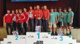 1. Mannschaft (v. l.): Kai Erthel, Robin Griesheimer, Elischa Weber, Christian Kautzmann und Stefan Wiesner.