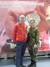 Karate-Sportler unter sich: Stefan Kainath und Sophie Wachter.