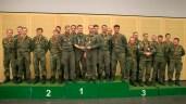 Die österreichischen Kameraden ganz oben auf dem Stockerl beim Mannschaftwettbewerb der Brigade, gefolgt von den Struber und Mittenwalder Jagern.