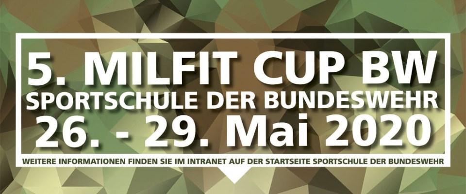 5. Military Fitness Cup der Bundeswehr (MilFitCup Bw) 2020 an der Sportschule der Bundeswehr in Warendorf vom 26. – 29. Mai 2020