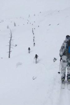 Aus einer Frühjahrstour wurde nahezu eine hochwinterliche Skitour.