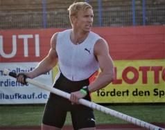 Der sprungstarke Pole Piotr Lisek.