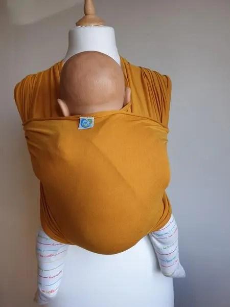 Yellow stretchy wrap