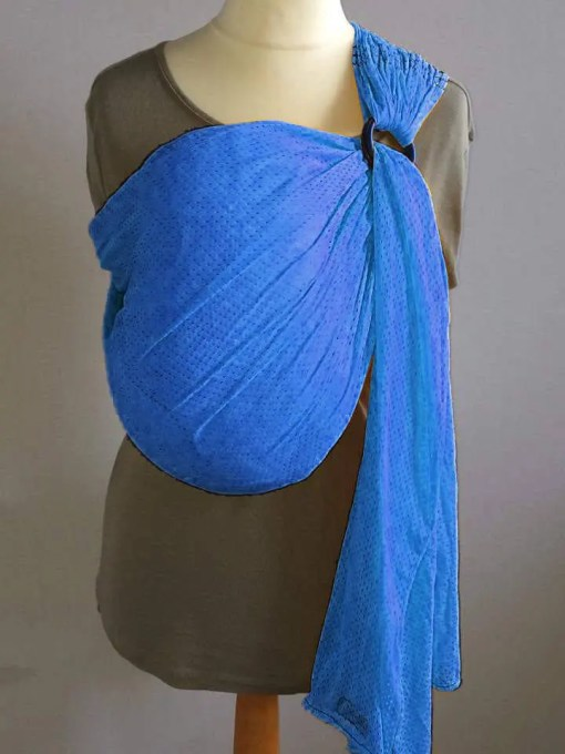 Royal blue water ringsling displayed on a mannequin