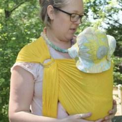 Melliapis water mesh ringsling in yellow