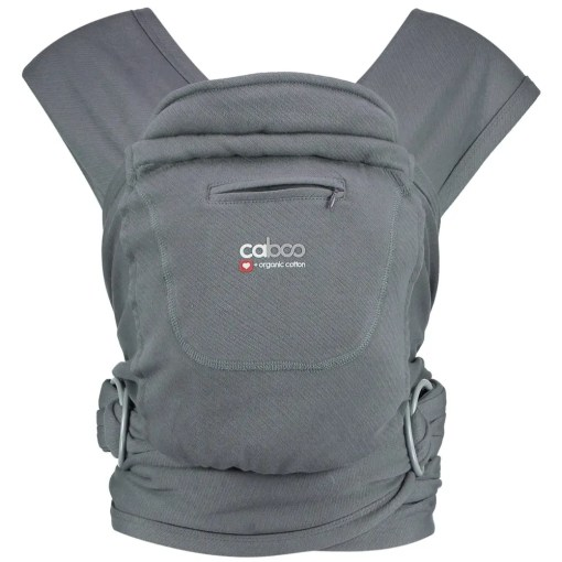 Close Caboo +Organic - Pewter_Front