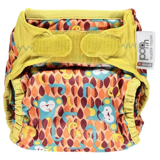 Front of Close Pop-in Gen V2 Single Printed Nappy Ticky & Bert