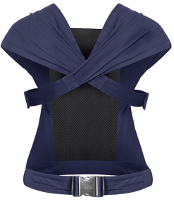 Izmi midnight blue breeze baby carrier image from the rear