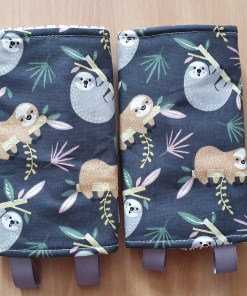 Suck pads with a sloth print