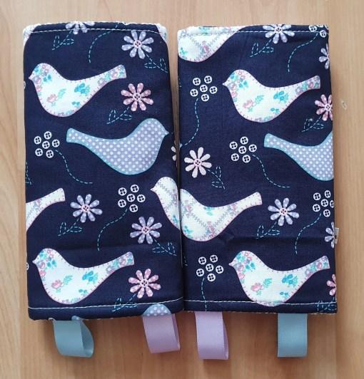 Suck pads with a bird print