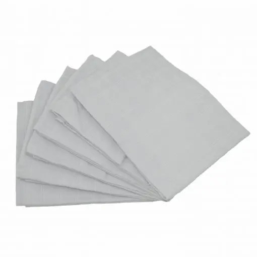 Grey 6-pack plain muslin squares
