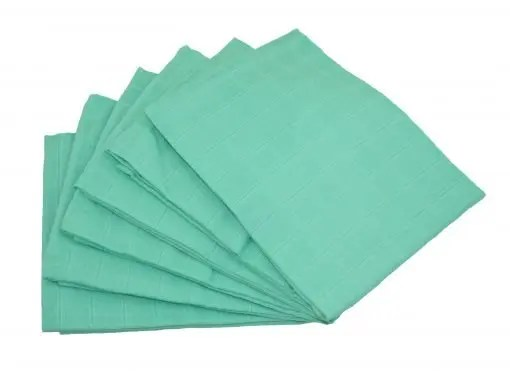 Mint 6-pack plain muslin squares