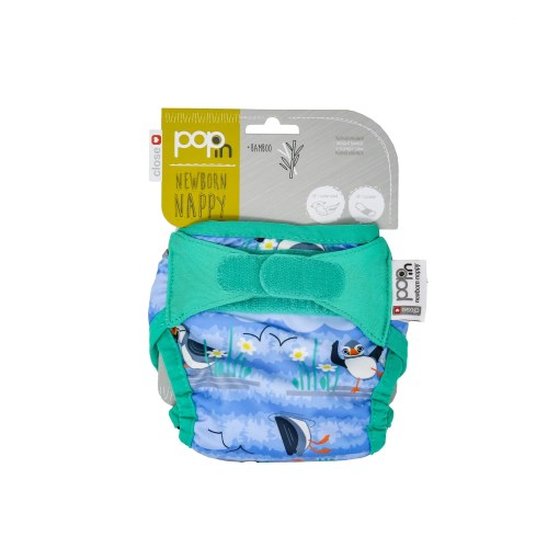Packaging of a Close Pop-in Puffin Newborn Nappy