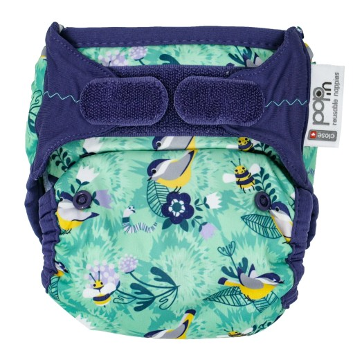 Front view of Close Pop-In V2 Nappy APLIX Round The Garden