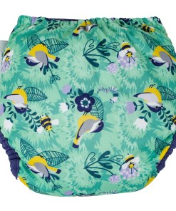 Rear view of Close Pop-In V2 Nappy APLIX Round The Garden