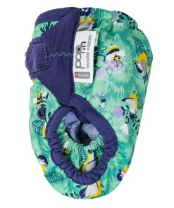 Side view of Close Pop-In V2 Nappy APLIX Round The Garden