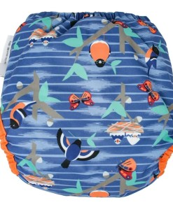Rear view of Close Pop-In V2 Nappy POPPER Twilight Garden