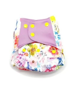 Yellow floral nappy