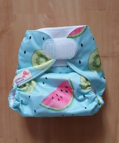 Littles & Bloomz newborn nappy on smallest setting