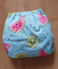 Rear of Littles & Bloomz newborn nappy